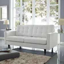 Contemporary White Leather Sofas Modern Contemporary White Leather Sofas You Ll Wayfair