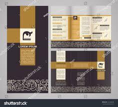 vintage style brochure template design modern stock vector