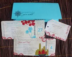 wedding invitations hawaii hawaii and hong kong antique boarding pass wedding invitations