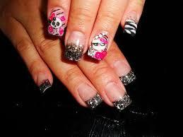 3d skull 3d hello kitty nerd nail art archive style nails