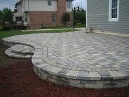 brick paver patios small brick patio off deck area brick paver