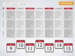keynote template weekly planner