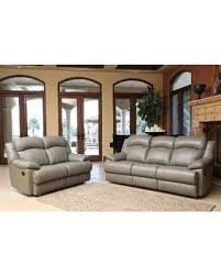 Top Grain Leather Reclining Sofa Amazing Deal On Abbyson Clarence Top Grain Leather Reclining 2