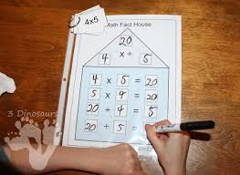 math fact families multiplication division free math fact houses for multiplication division 3 dinosaurs