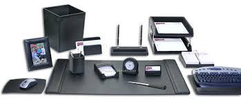 Desk Sets And Accessories Black Leather Desk Accessories Deskideas