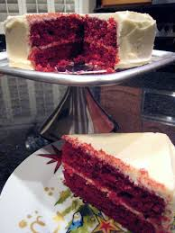 apple a day red velvet cake with cream cheese frosting