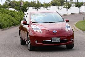 nissan canada car review 2015 nissan leaf driving