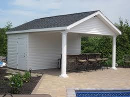 Pool House Garage Custom Carpentry Cabanas U0026 Pool Houses Long Island