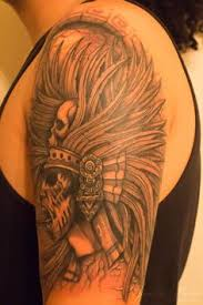 aztec skull tattoo pin aztec skull tattoo shoulder on pinterest