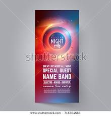 dance club night summer party flyer stock vector 664199950