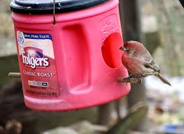 angelgirlpj coffee can bird feeder diy recycle and reuse