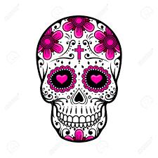 day of the dead skull skull sugar flower skull vector