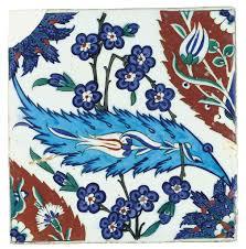 Ottoman Tulip by An Iznik Pottery Tile Ottoman Turkey Circa 1570 All Other