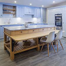 free standing kitchen islands with breakfast bar with blue