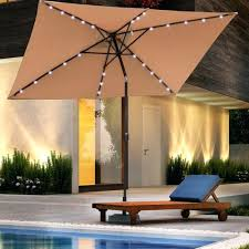 Lighted Patio Umbrella Mesmerizing Lighted Umbrella For Patio Outdoor Rectangular Solar