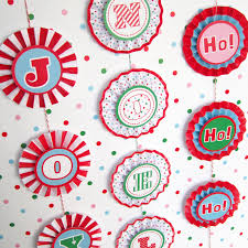 joy noel rosette banner decoration printable paper christmas