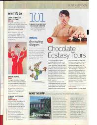 cosmopolitan article chocolate ecstasy tours press