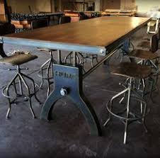 Diy Industrial Dining Room Table Perfect Match For Our Industrial Bar Stools In