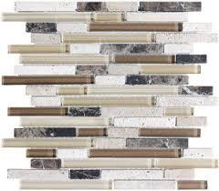 Stone Glass Tile Backsplash by 4