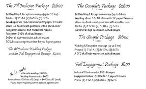 photography wedding packages todd photography wedding packages