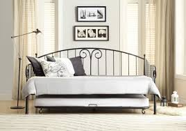 Metal Daybed Frame Bedroom Decorative Black Metal Twin Size Day Bed Daybed Frame
