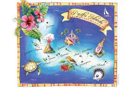 Solomon Islands Map Marovo Lagoon Solomon Islands International Traveller