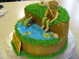36 best fishing cakes images on pinterest fishing cakes fishing