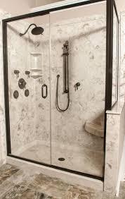 Bathroom Shower Inserts Bathroom 38 Inch Shower Stall 3 Piece Shower Insert Glass Corner