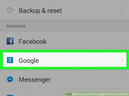android log how to log out of a account on android 7 steps