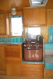 Century Kitchen Cabinets by Vintage Schultz Travel Trailer Interior Vintage Mid Century