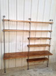 industrial desk industrial bookcase bookshelves urban