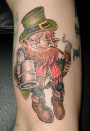 cool leprechaun dude with a pipe and beer talesofthetatt