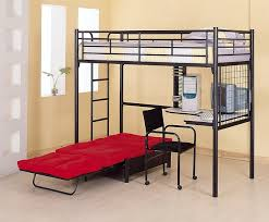 Loft Beds Loft Bed Plans And Bed With Desk Underneath On - Metal bunk bed with desk