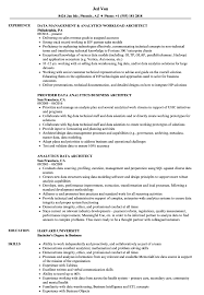 sle of resume analytics data architect resume sles velvet