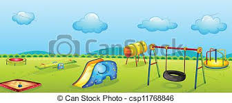 eps vector of play park illustration of a play park for children
