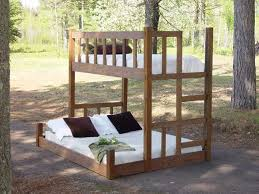 Xl Twin Bunk Bed Plans by Twin Over Queen Open Airy Clean Lines Stylish Like