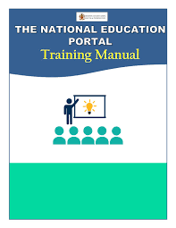 national education portal training manual by ministry of education
