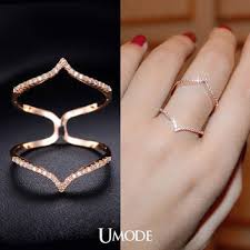 14k gold chevron rings sterling silver v shaped ring view cubic zirconia stacking ring from shopumode on etsy i