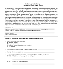 19 student survey templates u2013 free sample example format