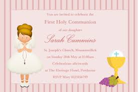 communion invitation personalised communion invitations girl new design 10
