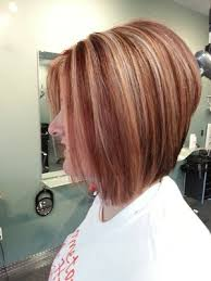 red brown long angled bobs before and after vibe hair studio