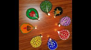 how to make lamp diyas using clay and decorate them deepavali