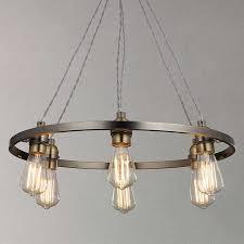 Pewter Ceiling Lights Lewis Bistro Hoop Pendant Ceiling Light 6 Light Pewter