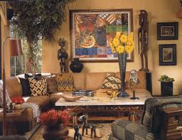 African Living Room Decor Here Colorful African Prints On Pillows Accent A Couch With Clean