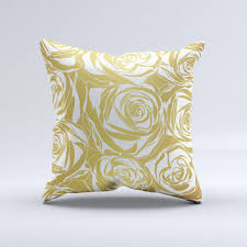 Shop White And Gold Decorative Pillows on Wanelo