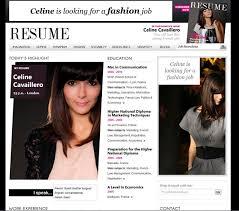 a fashion grad u0027s online resume