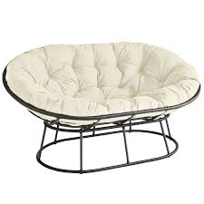 outdoor mocha double papasan chair frame pier 1 imports
