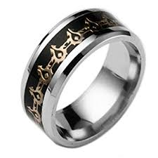 fashion rings men images Men jewelry world of warcraft stainless steel ring men lord of the jpg