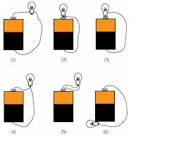 light bulbs and batteries solved shown below are six arrangements of a bulb batter