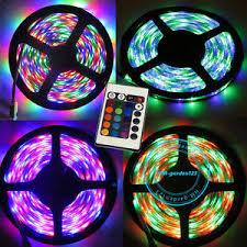 color changing led strip lights with remote 3528 12v 300 led strip lights rgb car home 16 colour changing tape